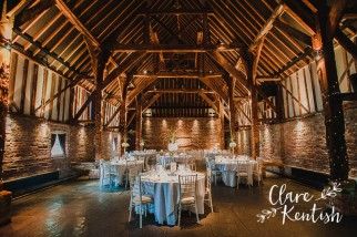 Wedding Photography by Clare Kentish at Cooling Castle Barns, Kent